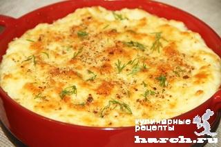 Картофельное пюре, запеченное с сыром по-американски