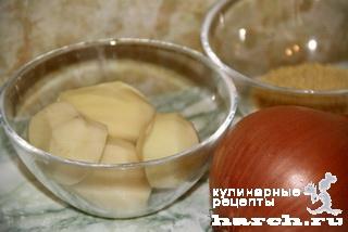 Каша пшенная с картофелем