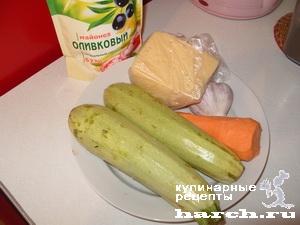 Конвертики из кабачков с морковно-сырной пастой