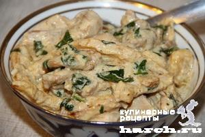 kurica s kabachkami v slivochnom souse 6 Курица с кабачками в сливочном соусе