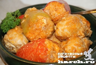 kurica tushenaya s farshirovanim percem v podlive 12 Курица, тушеная с фаршированным перцем в подливе