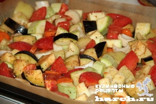 Курица, запеченная с овощами по-сицилийски