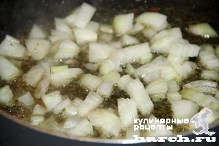 kurinaya pechen s lisichkami i tikvoy 05 Куриная печень с лисичками и тыквой