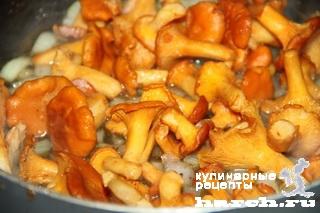 kurinaya pechen s lisichkami i tikvoy 06 Куриная печень с лисичками и тыквой