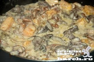 kurinaya pechen s lisichkami i tikvoy 11 Куриная печень с лисичками и тыквой