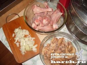 kurinie nozhki farshirovanie gribami 01 Куриные ножки, фаршированные грибами