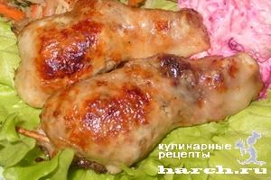kurinie nozhki farshirovanie gribami 19 Куриные ножки, фаршированные грибами