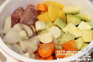 Куриные оладьи с овощами