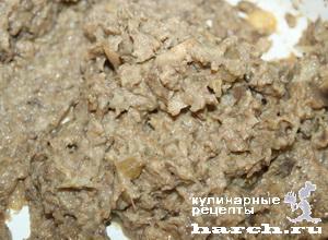 Куриные пирожные с грибным кремом