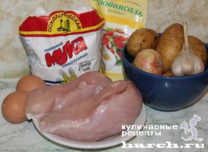 Куриные шницели в картофельной корочке