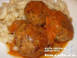 Куриные тефтели с грибами в томатном соусе