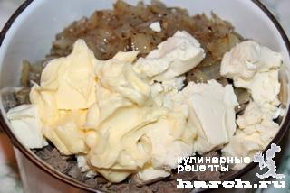 Куриный паштет с печенью и плавленым сыром