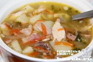 Куриный суп с манкой