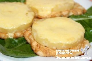 """Куриное филе с ананасами и сыром """"Гавайи"""""""
