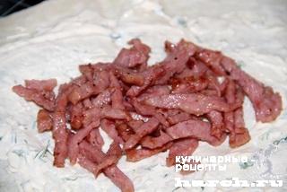 Лаваш с колбасой