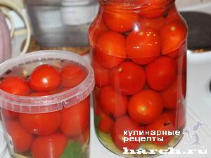 Мелкие помидоры маринованные