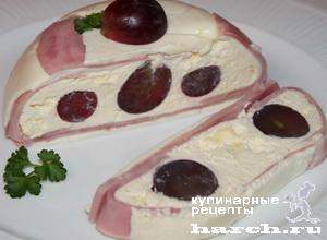 Мини-тортик с сыром и ветчиной