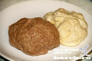 Мраморный пшенично-ржаной хлеб
