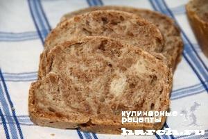 Мраморный пшенично ржаной хлеб