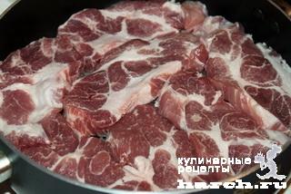 Мясо по-французски на сковороде