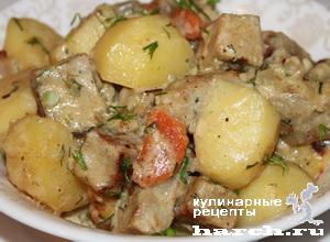 myaso s kartofelem v sirnom souse 10 Мясо с картофелем в сырном соусе