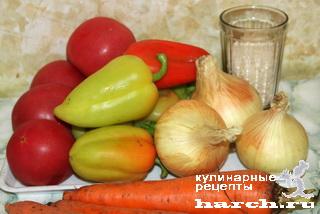 """Овощной салат с рисом """"Сытая зима"""""""