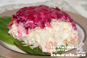 Овощной салат торт Метелица