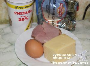 Пастуший бутерброд с сыром и ветчиной