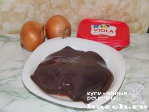 Печень в сливочно-сырном соусе