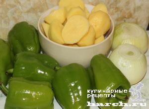 Перец, фаршированный картофельным пюре