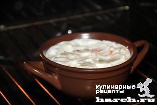 Перец, запеченный в сметане