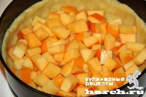 pesochniy pirog s tvorogom i hurmoy 08 Песочный пирог с творогом и хурмой