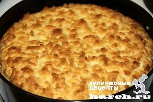 pesochniy pirog s tvorogom i hurmoy 12 Песочный пирог с творогом и хурмой