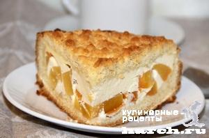 pesochniy pirog s tvorogom i hurmoy 131 Песочный пирог с творогом и хурмой