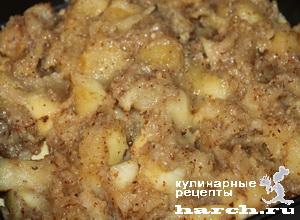 Песочный пирог с яблоками по-польски