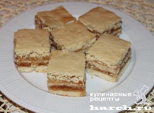 Песочный торт с яблочным повидлом