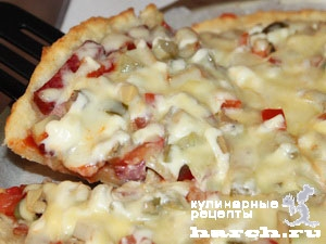 Пицца на творожно-песочной основе