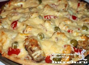 """Пицца с лососевыми молоками """"Рыбацкая"""""""