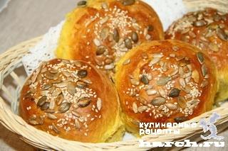 Пуховые булочки с тыквой
