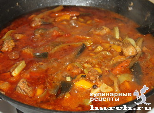 ragu is govyadini s kabachkami i baklaganami 15 Рагу из говядины с кабачками и баклажанами