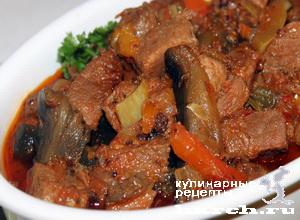 ragu is govyadini s kabachkami i baklaganami 17 Рагу из говядины с кабачками и баклажанами