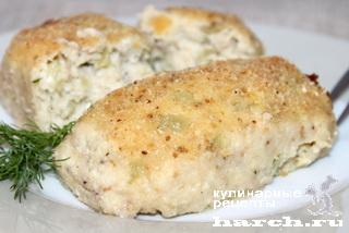 Рыбные котлеты со сладким перцем и плавленым сыром Академические