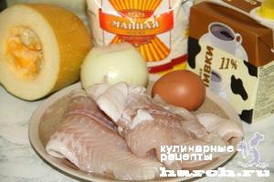 Рыбные оладьи с кабачками