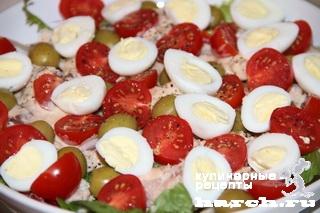 Рыбный салат с овощами