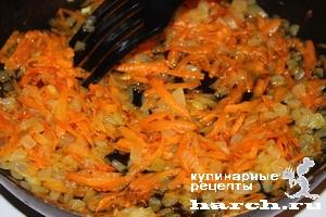 Салат жареные грибы жареная морковь лук