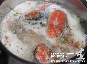 Рыбное суфле с помидорами
