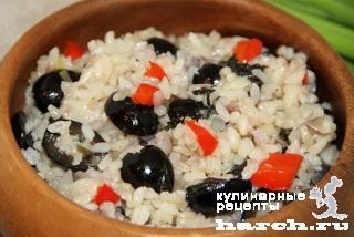 Рис с маслинами и базиликом по-флорентийски