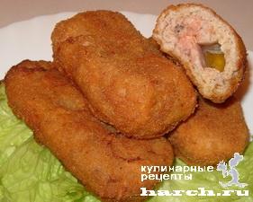 Рубленые куриные котлеты по-киевски