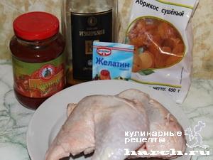 Куриный рулет из окорочков и желатин