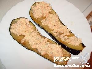 Рулетики из баклажанов с морковью, сыром и грецкими орехами